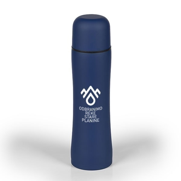 Metal thermos DRSP with rubber coating, 500 ml - Model Apollo